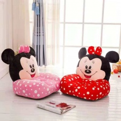 Fotoliu Minnie Mouse Roz cu buline din plus