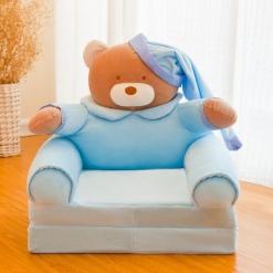 Fotoliu din Plus Ursuletul Teddy Extensibil XXl BLUE