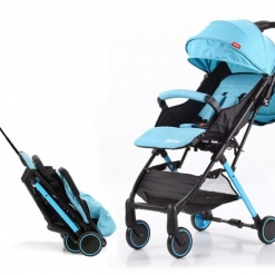 Carucior sport copii, modul Troller-transport pe avion, Kinlee, Bleu