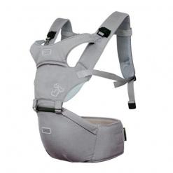 Marsupiu ergonomic Aiebao cu scaunel Gri/Bej