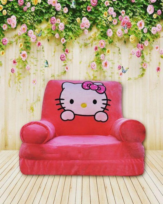 Fotoliu Extensibil Din Plus Catifelat Hello Kitty