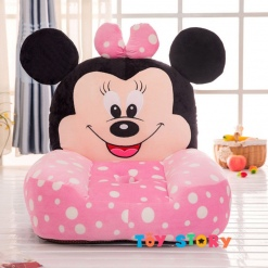 Fotoliu Minnie Mouse Roz cu buline din plus