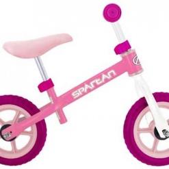 Bicicleta fara pedale, Balance Spartan, Alb/Roz