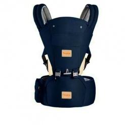 Marsupiu ergonomic cu scaunel All Seasons Treppy, Bleumarin