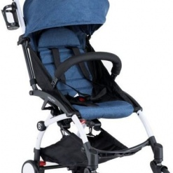 Carucior sport ultracompact Baby Grace Denim cu spatar rabatabil