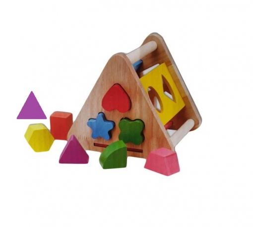 Jucarie sortator forme geometrice Piramida
