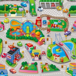 Covoras de joaca Puzzle din spuma - Parc de distractii