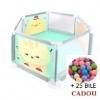 Tarc Pliabil Hexagonal cu Imprimeu Colorat + 25 Bile Cadou