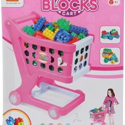 Set Cos de cumparaturi + 80 cuburi de constructie ROZ