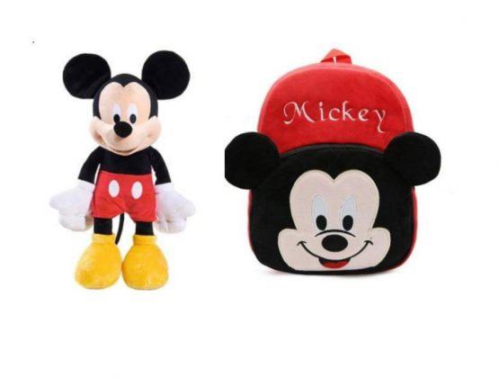 Set Ghiozdanel Mickey Mouse + Mascota din Plus