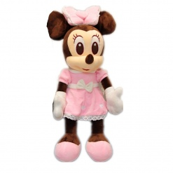 Jucarie din Plus Minnie Mouse Bride Roz- 60 cm