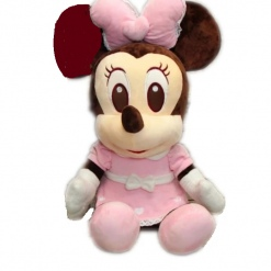 Jucarie din Plus Minnie Mouse Bride Roz- 45 cm