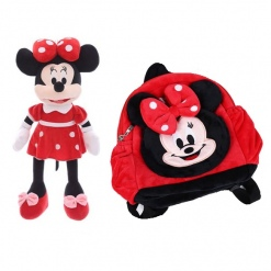 Set Ghiozdanel Minnie Mouse + Mascota din Plus