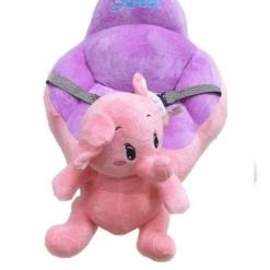 Fotoliu din Plus Bebe Elefantel cu spatar si sistem de prindere