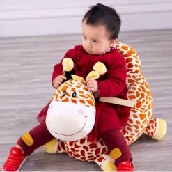 Fotoliu din Plus Bebe Girafa cu spatar si sistem de prindere