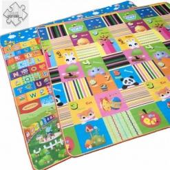 Covoras de joaca educativ cu doua fete bebe 180×120 cm