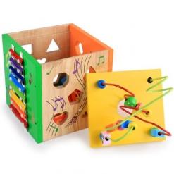 Cub multifunctionaleducativ cu forme si xilofon