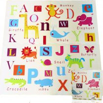 Covoras de joaca Puzzle Animalute si Litere