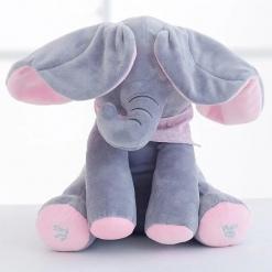 Elefant interactiv Peek-a-Boo din pluș