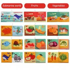 Set 6 carti educationale material textil