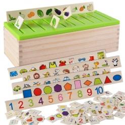 Jucărie Montessori Sortator din lemn