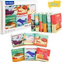 Set 6 carti educationale material textil