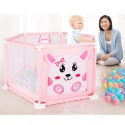 Tarc de joaca bebe Roz imprimeu Pisicuta