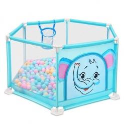 Tarc de joaca bebe Bleu imprimeu Elefantel