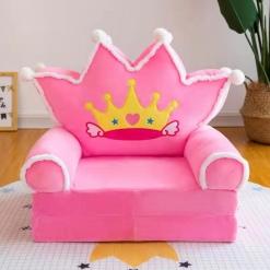 Fotoliu extensibil pentru copii Princess Pink Regal