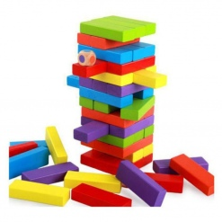Joc multifunctional si educativ Colorat - Jenga