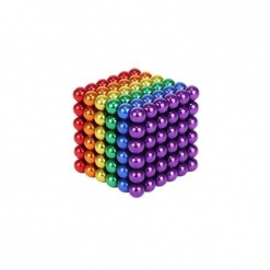 Bile Magnetice AntiStres Neocube, Multicolore, 5 mm, 216 piese