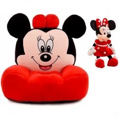 Set fotoliu si Mascota muzicala 25 cm Minnie Mouse – Rosu