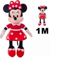 Set din plus Minnie Mouse 100 cm plus Minnie muzicala 25 cm Rosu
