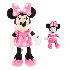 Set din plus Minnie Mouse 100 cm plus Minnie muzicala 25 cm Roz
