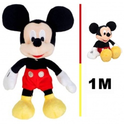 Set din plus Mickey Mouse 100 cm plus Mickey muzicala 25 cm Rosu