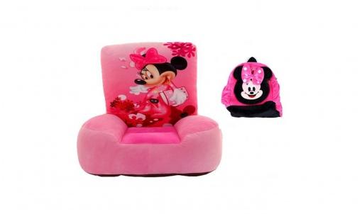 Set fotoliu si ghiozdanel Minnie Mouse – Roz