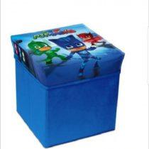 Cutie de depozitare jucarii cu functie de taburet Eroi in Pijamale