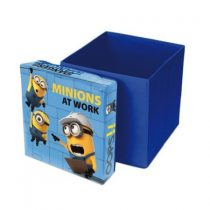 Cutie de depozitare jucarii cu functie de taburet Minions