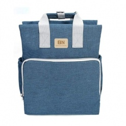 Rucsac/geanta mamici-organizator - BAONEO - Jeans Deschis