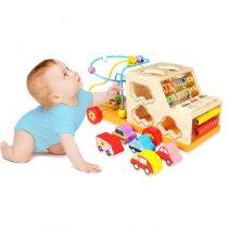 Jucarie Montessori Camion din lemn